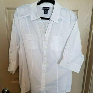 LB White Button Up